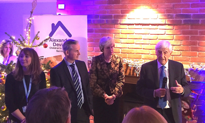 Theresa May helps open Alexander Devine hospice