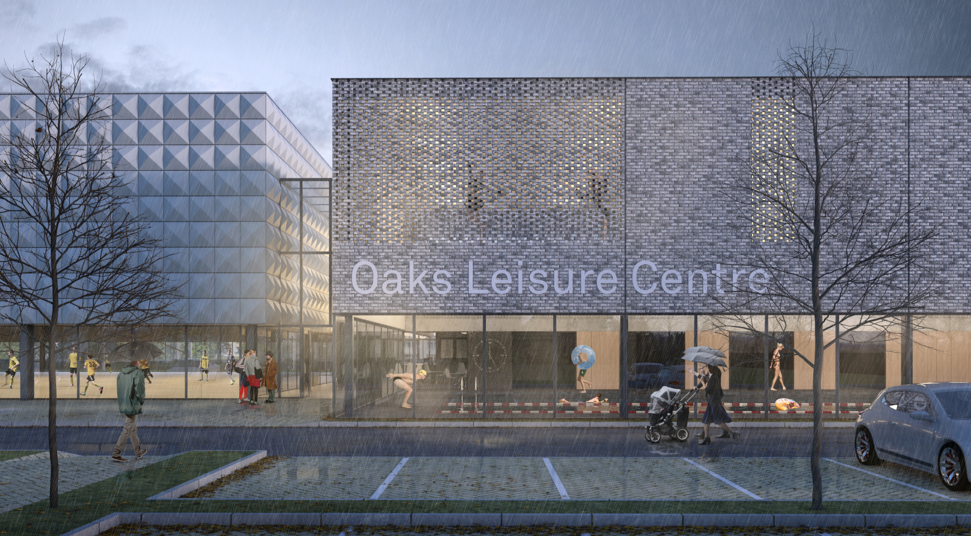 Oaks Leisure Centre plans submitted