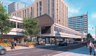 Broad Street Mall plans for 493 flats submitted
